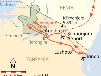 Reise in Tansania, Tansania: Höhepunkte mit Usambara-Bergen