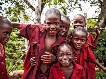 Reise in Malawi, Trinkender Löwe