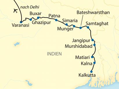 Reise in Indien, Von Kalkutta bis Varanasi: Die besonders umfassende Ganges-Kreuzfahrt (2020)