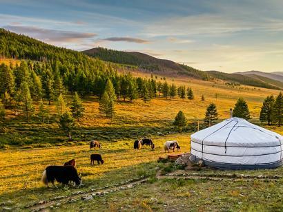 Reise in Mongolei, Sonnenaufgang in der Mongolei