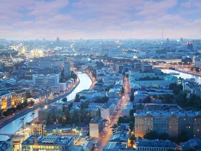Reise in Russland, Blick auf Moskau