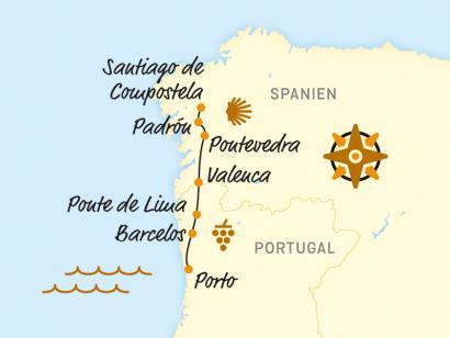Reise in Portugal, Von Porto nach Santiago de Compostela (2020)