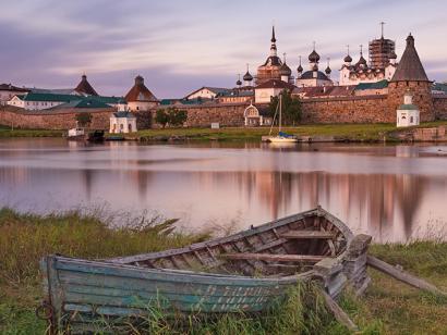Reise in Russland, Solowezki-Klosteranlage in Russland.