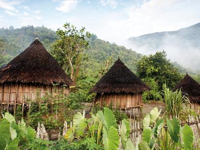 Reise in Indonesien, Traditionelle Hütten auf Papua-Neuguinea