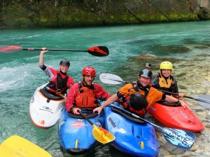Reise in Slowenien, Wildwasser-Kajak Soca (Slowenien) + Salza (Österreich)