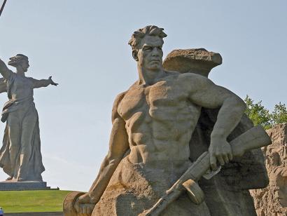 Reise in Russland, Monumentalstatue Mutter Heimat in Wolgograd