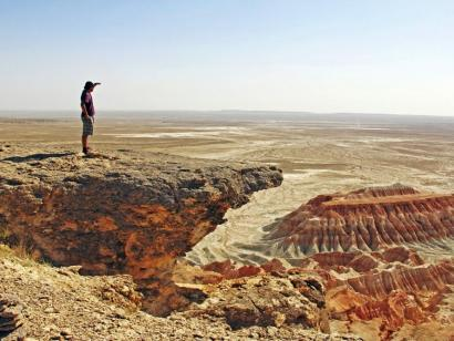Reise in Turkmenistan, Ausblick über Canyon