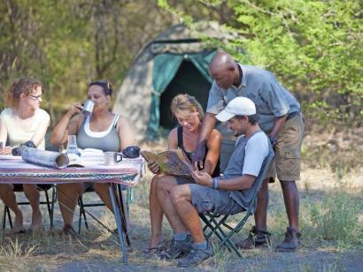 Reise in Botswana, Leopard im Okavango-Delta