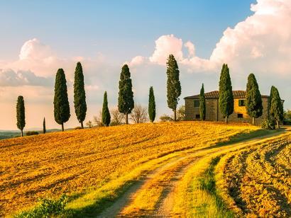 Reise in Italien, Landhaus in der Toskana