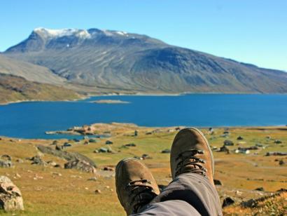 Reise in Grönland, Inlandseis im Sonnenschein