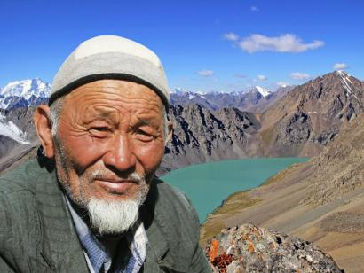 Reise in Kirgistan, Atermberaubendes Panorama vom Alakul Pass (ca. 3900m)