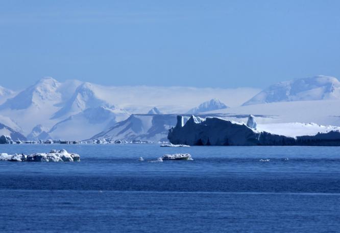 Reise in Antarktis, Blick ins Weddellmeer