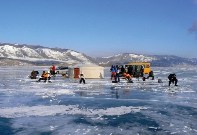 Reise in Russland, Auf dem Eis des Baikal