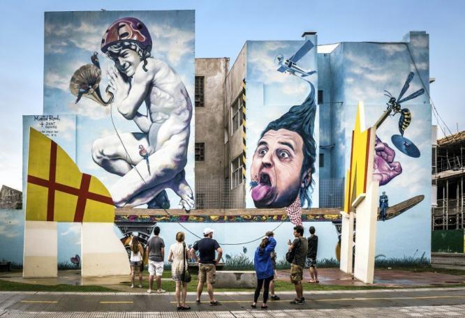 Reise in Argentinien, Graffiti in Buenos Aires