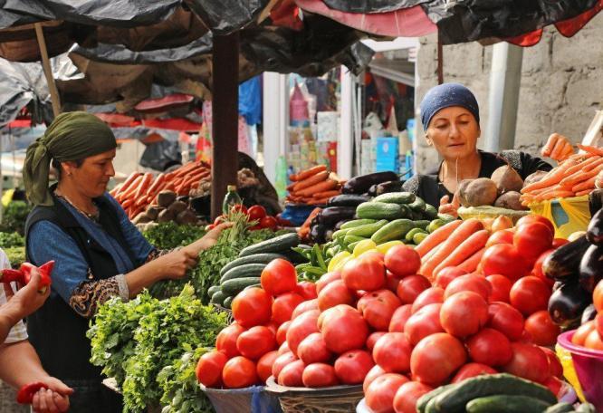 Reise in Georgien, Markttreiben in Telawi