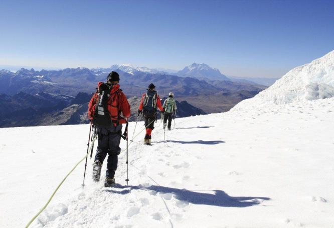 Reise in Bolivien, Bergbesteigung Huayna Potosi