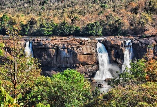 Reise in Indien, Wasserfall in Südindien