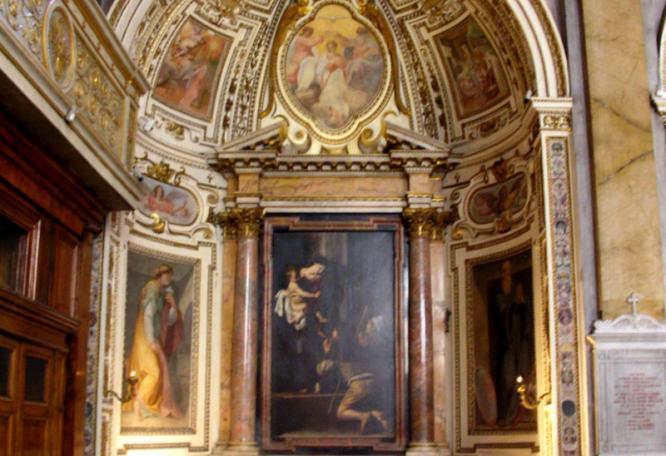 Reise in Italien, Rom - Madonna dei Pellegrini, Sant'Agostino