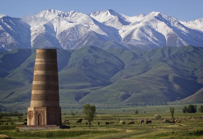 Reise in Kirgistan, Buranaturm in Kirgisistan