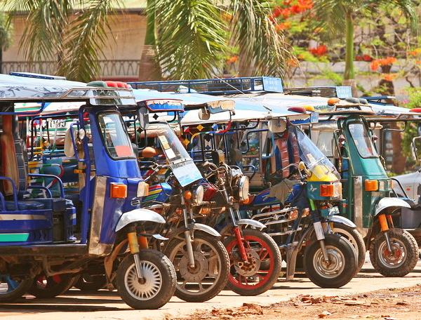 Reise in Laos, Tuk Tuks in Vientiane