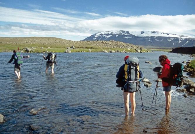 Reise in Island, Mit vollem Gepäck im Hochland unterwegs