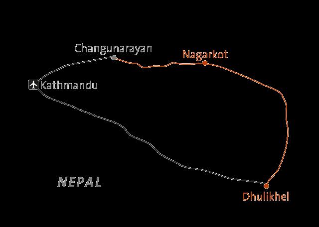 Reise in Nepal, Liebliches Kathmandutal Tempel, Felder, Bauernhöfe