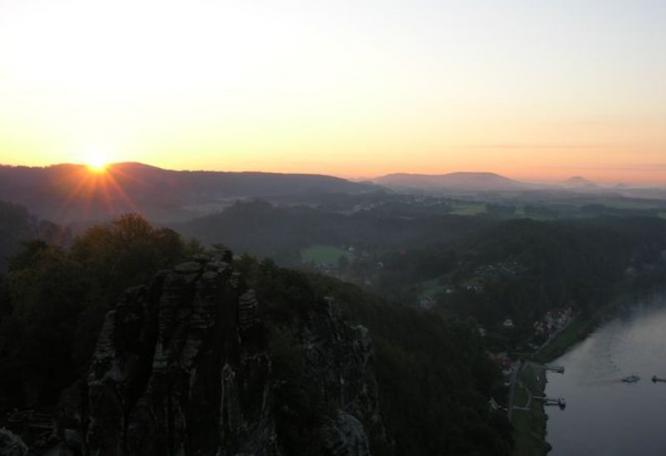 Reise in Deutschland, Blick von der Bastei