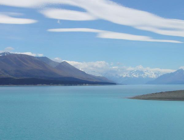 Reise in Neuseeland, Seenlandschaft auf der Südinsel Neuseelands