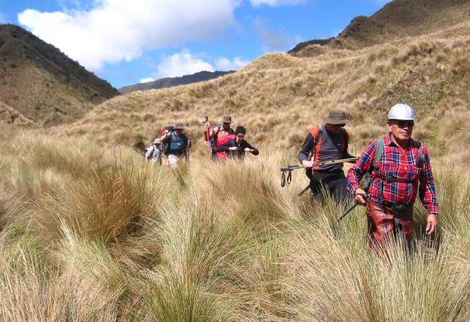 Reise in Ecuador, Wanderung in den Anden