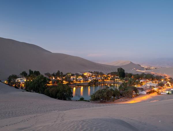 Reise in Peru, Oase von Huacachina