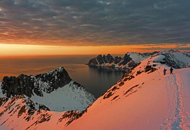 Reise in Norwegen, Nordlicht über der Noorderlicht