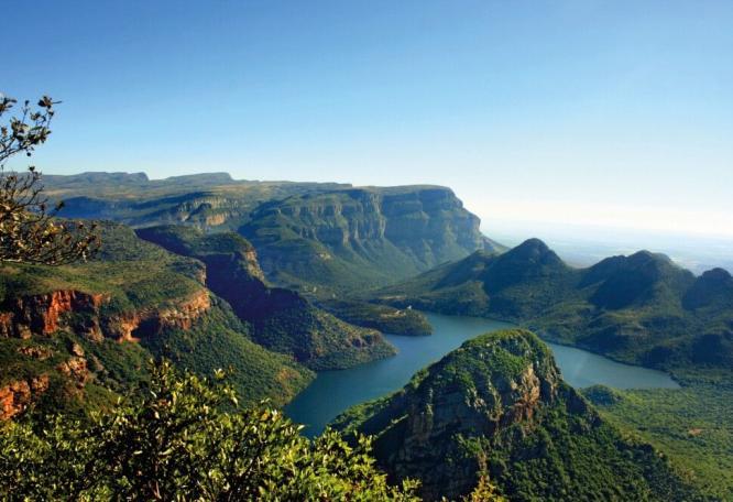 Reise in Südafrika, Blick in den Blyde River Canyon