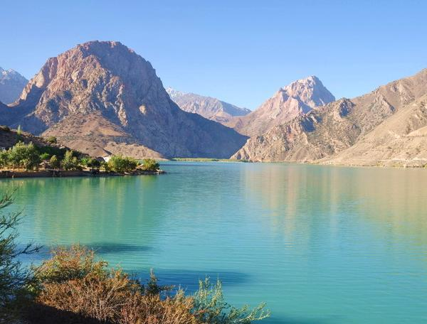 Reise in Tadschikistan, Iskanderkul-See im Fan-Gebirge