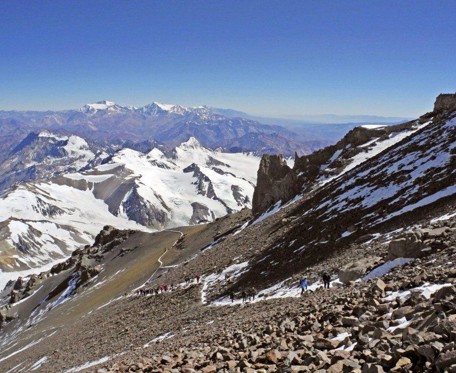 Reise in Argentinien, Sonnenaufgang am Aconcagua