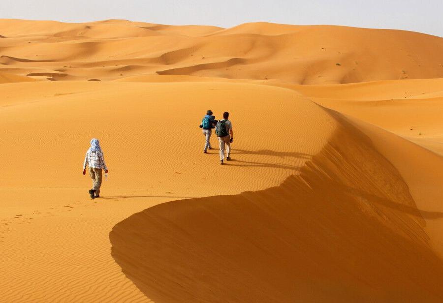 Reise in Marokko, die Weite der Wüste
