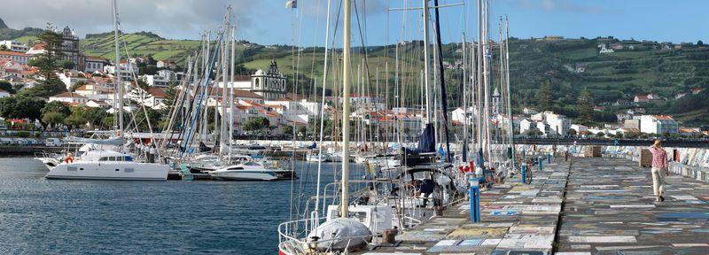 Reise in Portugal, Hafen von Horta auf Faial