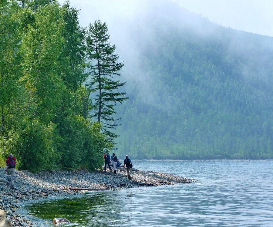 Reise in Russland, Wandern am Baikalufer