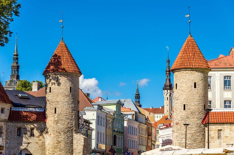 Reise in Estland, Estland - Stadtmauer von Tallinn