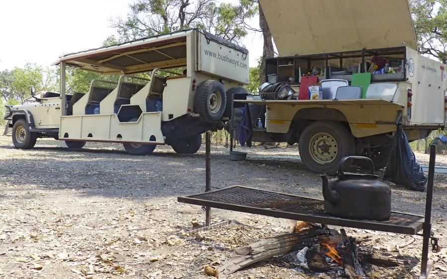 Reise in Botswana, Buffalo Safari Campingsafari