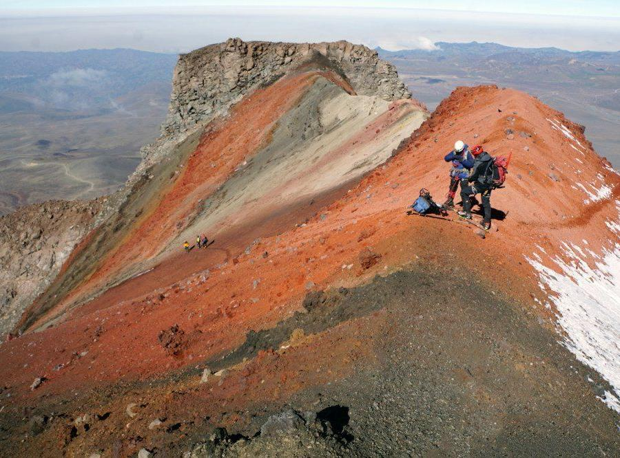 Reise in Ecuador, Der Tungurahua bei Baños gilt als aktiver Vulkan