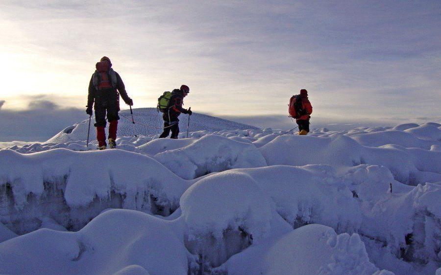 Reise in Ecuador, Im Abstieg vom Chimborazo oberhalb von El Castillo