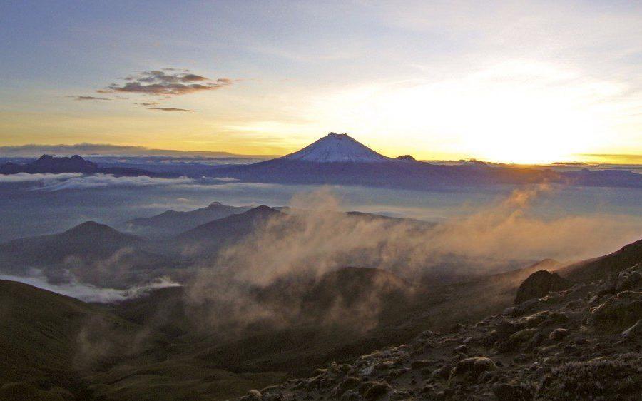 Reise in Ecuador, Gipfelbereich des Chimborazo