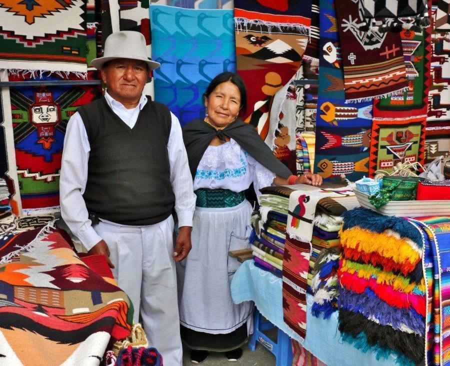 Reise in Ecuador, Blick auf den Hauptplatz von Quito