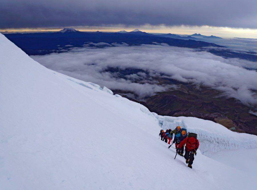Reise in Ecuador, Der vergletscherte Gipfel des Cayambe