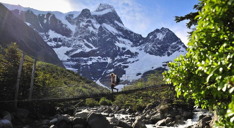 Reise in Chile, Brücke im Französischen Tal