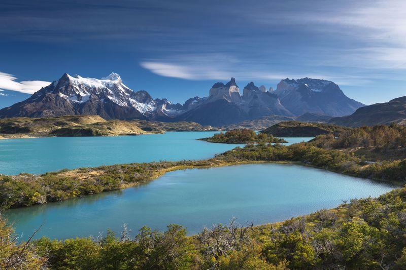Reise in Chile, Seenlandschaft im Torres del Paine Nationalpark