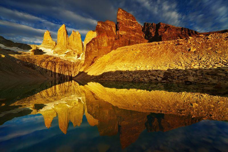 Reise in Chile, Base las Torres im Torres del Paine Nationalpark