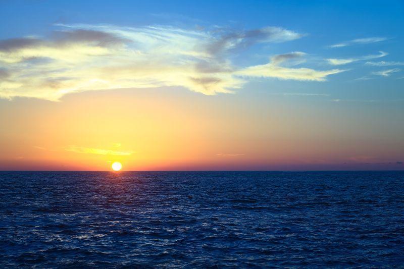 Reise in Chile, Sonnenuntergang über dem Pazifik