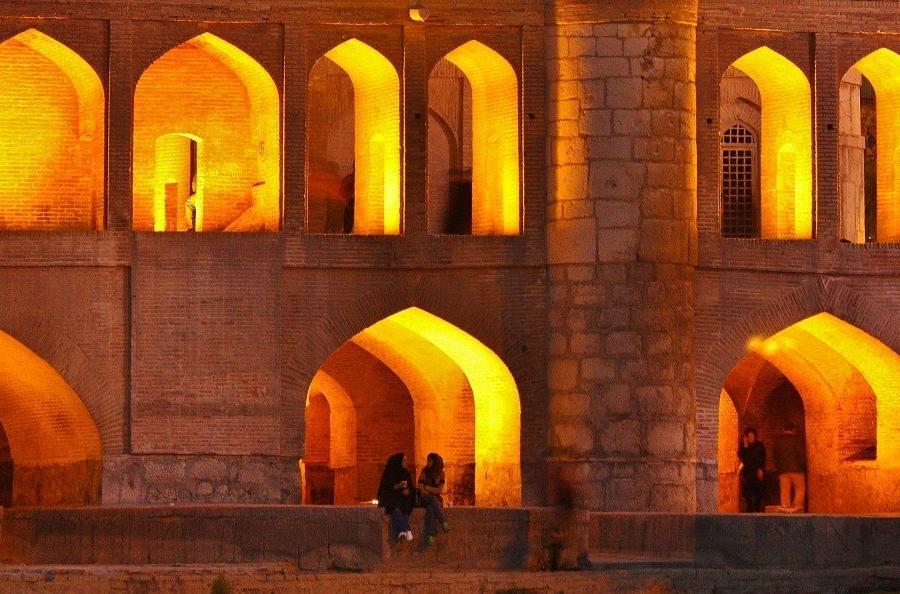 Reise in Iran, Si-o-Se Pol-Brücke in Isfahan