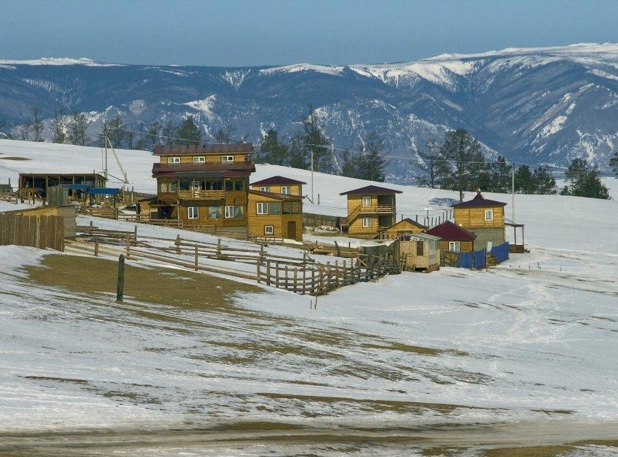 Reise in Russland, Camp auf Olchon